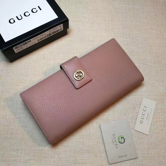 Gucci Calf leather Wallet 337335 pink