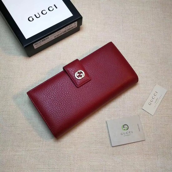 Gucci Calf leather Wallet 337335 red