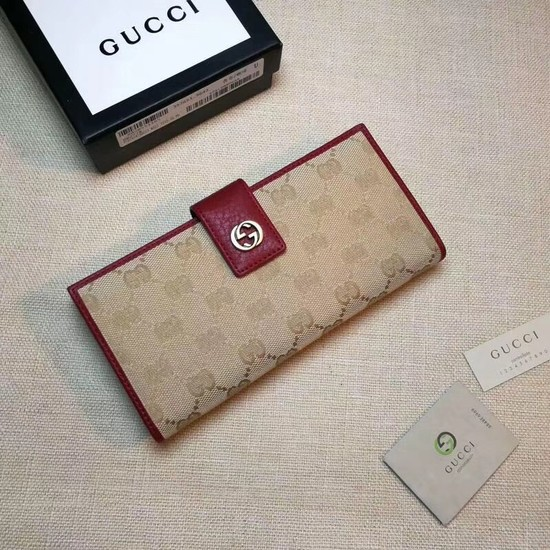 Gucci Calf leather Wallet A337335 red
