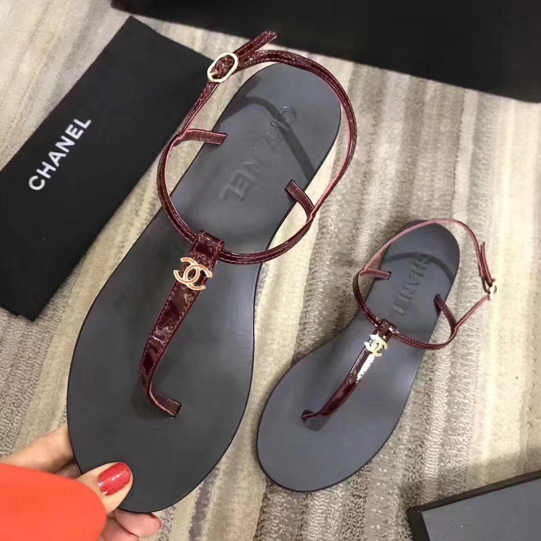 Chanel sandals CH2332LS red heel of a shoe 2CM