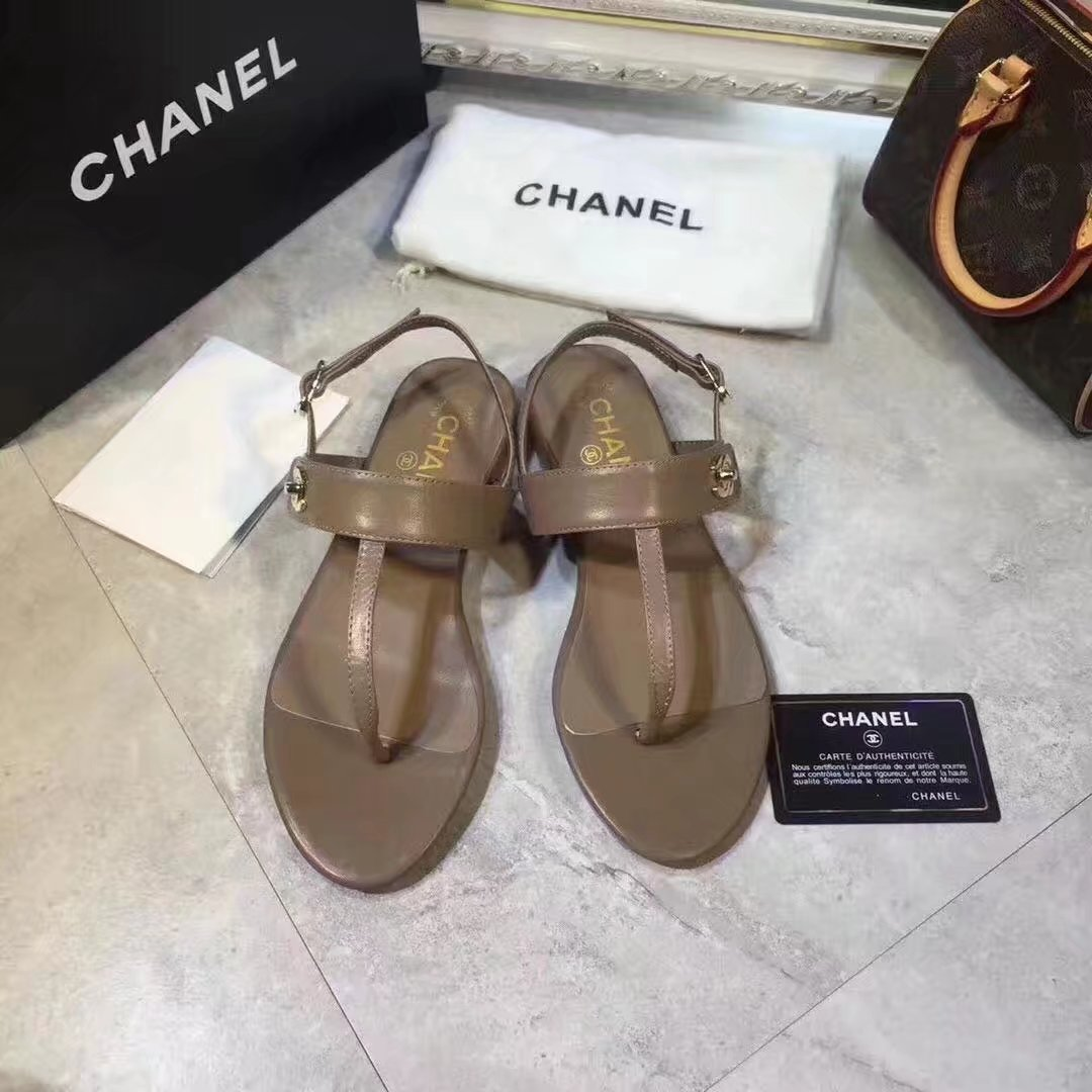 Chanel sandals CH2338HLL Apricot