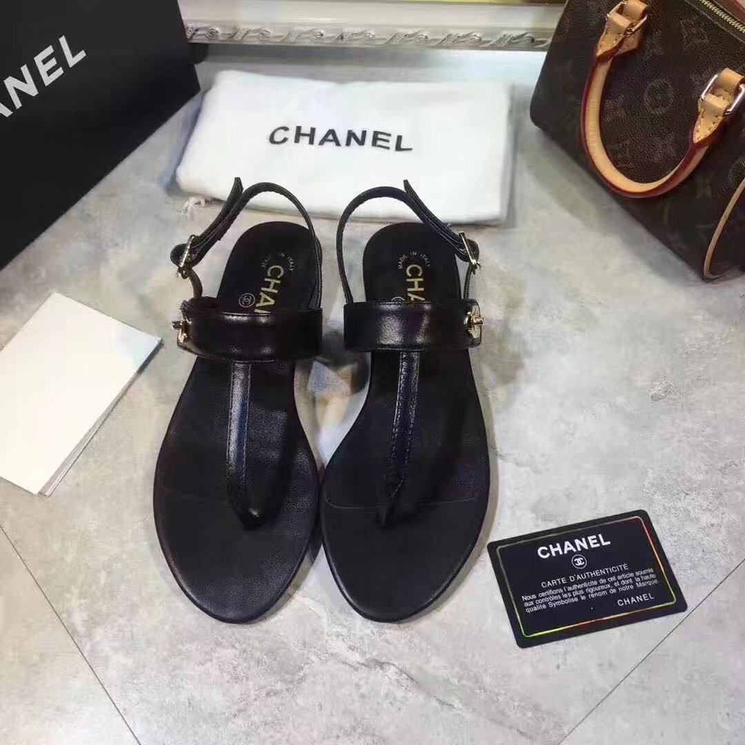 Chanel sandals CH2338HLL black