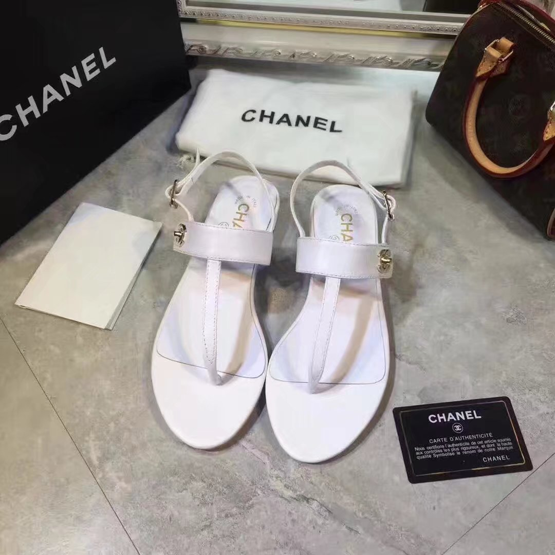 Chanel sandals CH2338HLL white