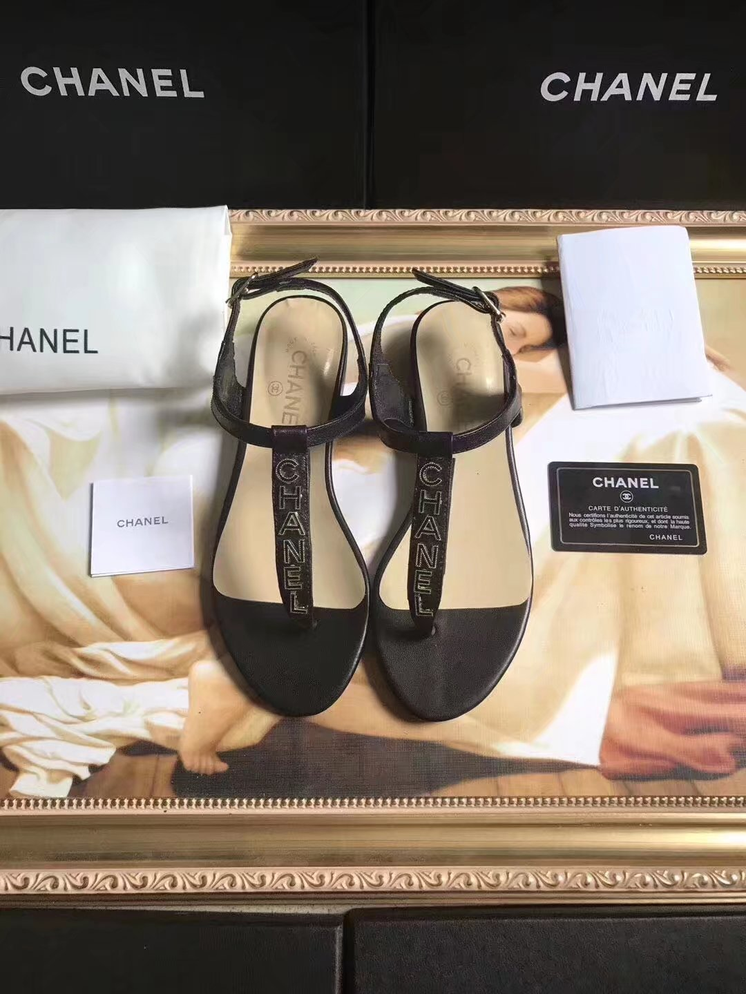 Chanel sandals CH2438HLL black
