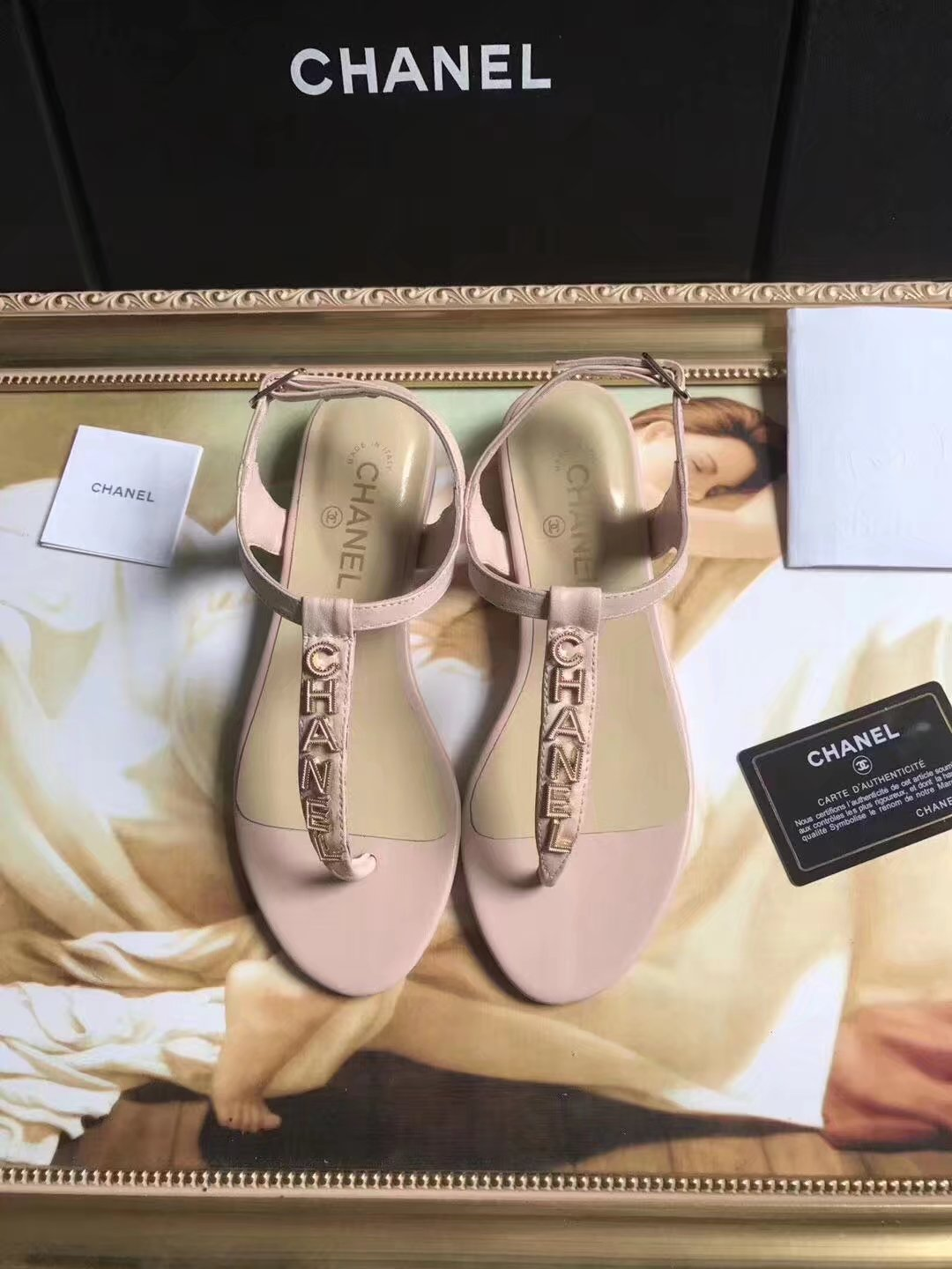 Chanel sandals CH2438HLL pink