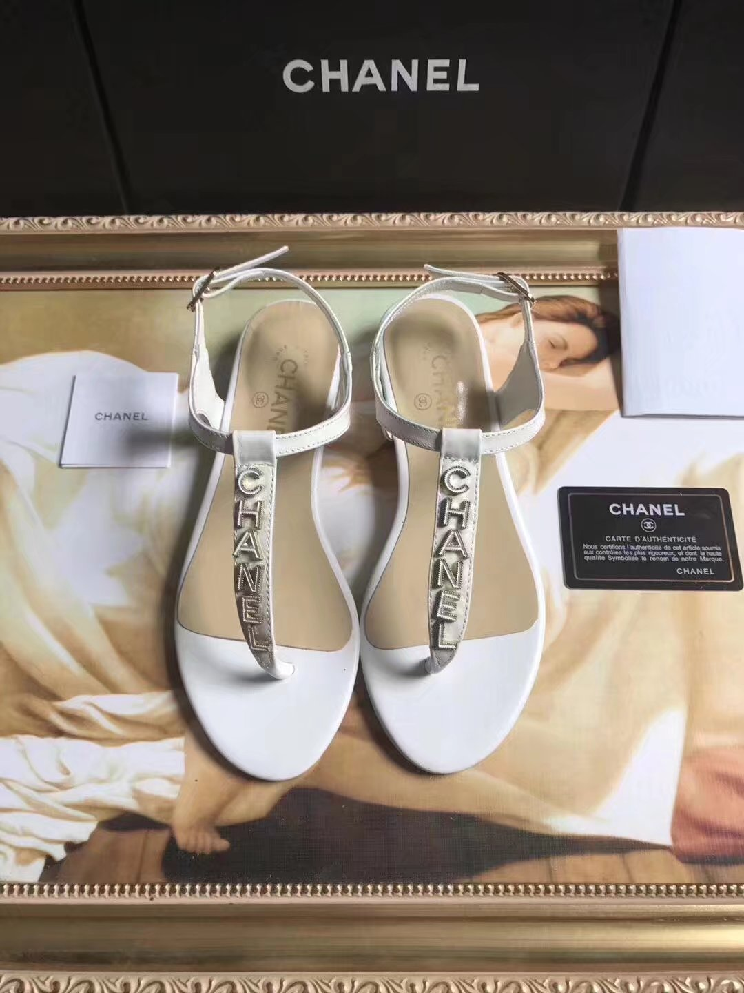 Chanel sandals CH2438HLL white