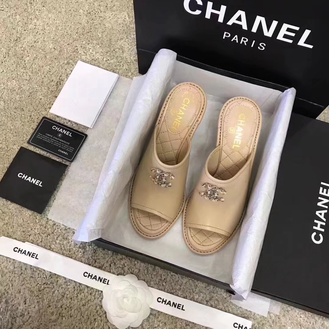Chanel slippers CH2329LS Apricot