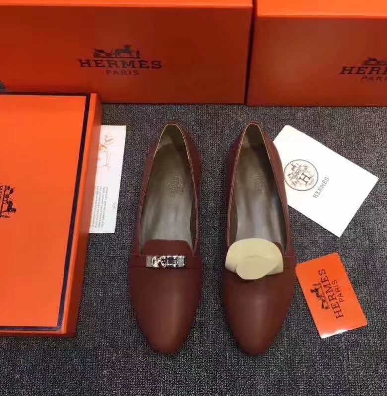 Hermes Casual Shoes HO780365 Brown