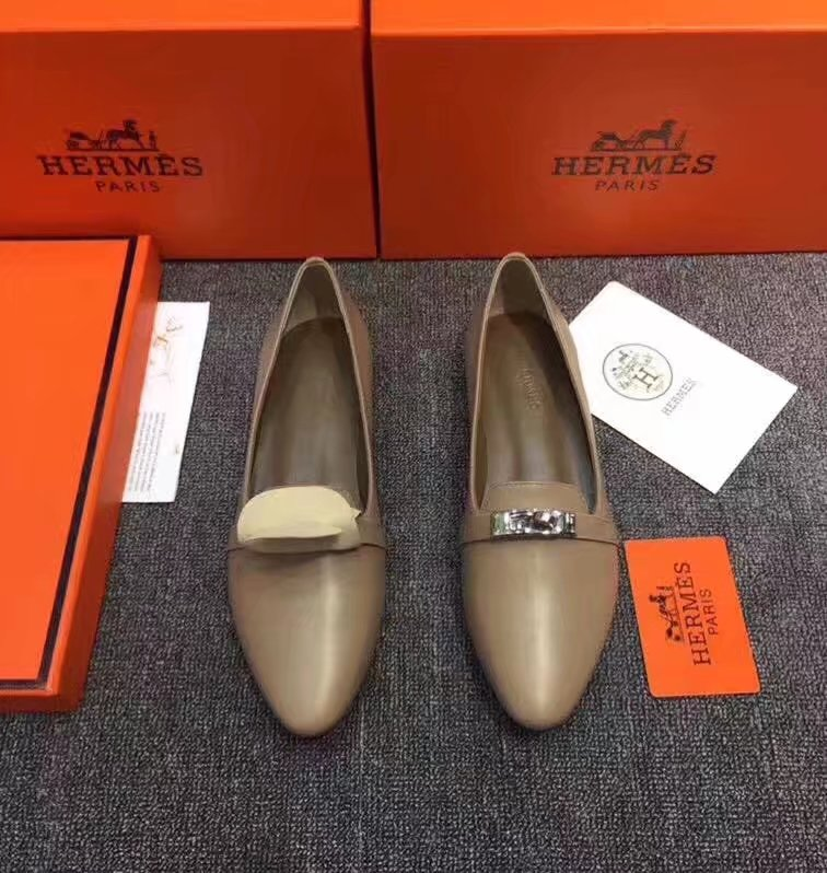 Hermes Casual Shoes HO780365 Camel