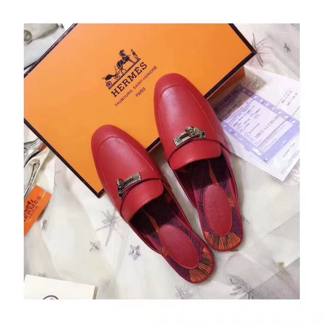 Hermes Casual Shoes HO780365 red