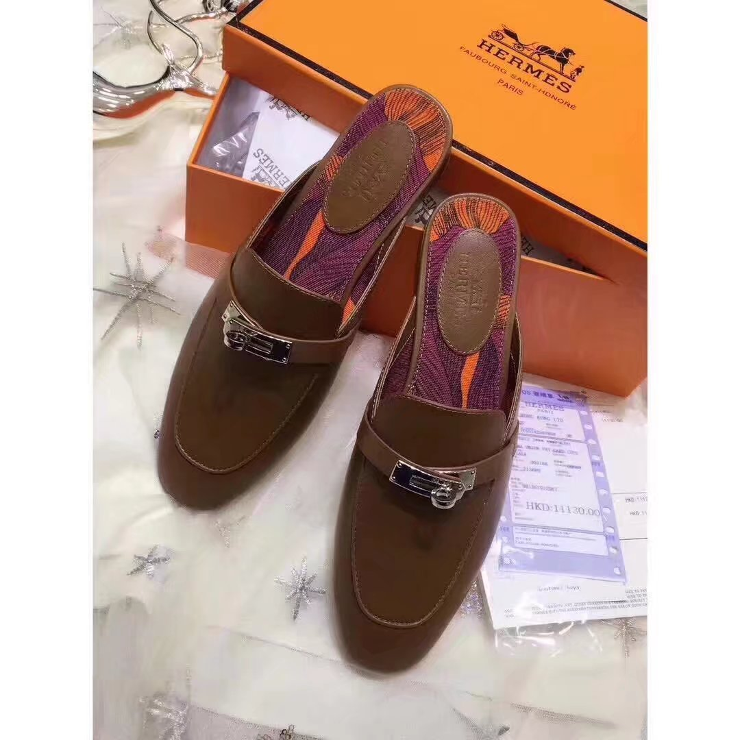 Hermes Casual Shoes HO880365 Brown