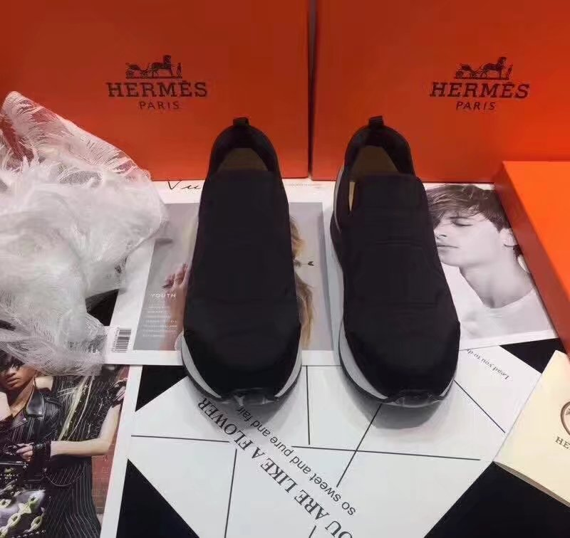 Hermes Lovers Casual Shoes HO784365 black