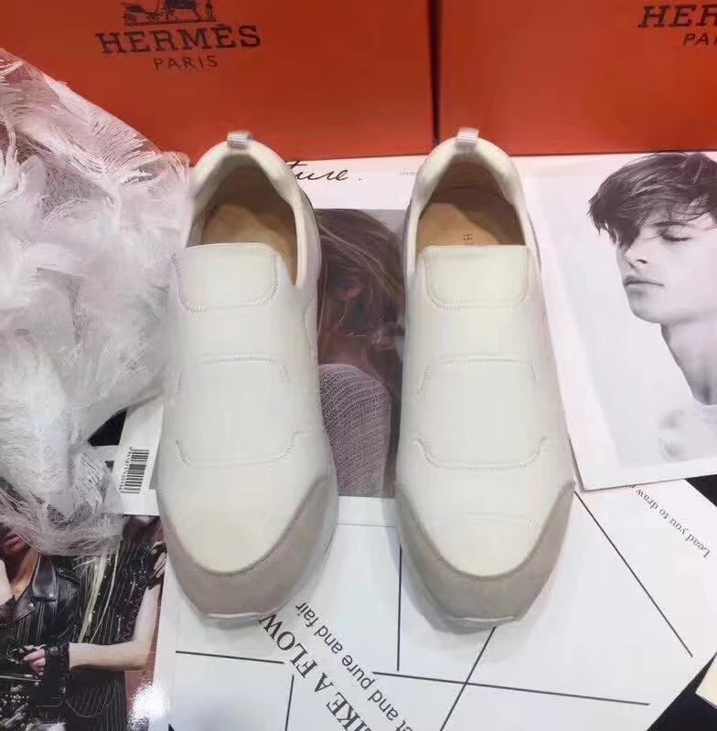 Hermes Lovers Casual Shoes HO784365 white
