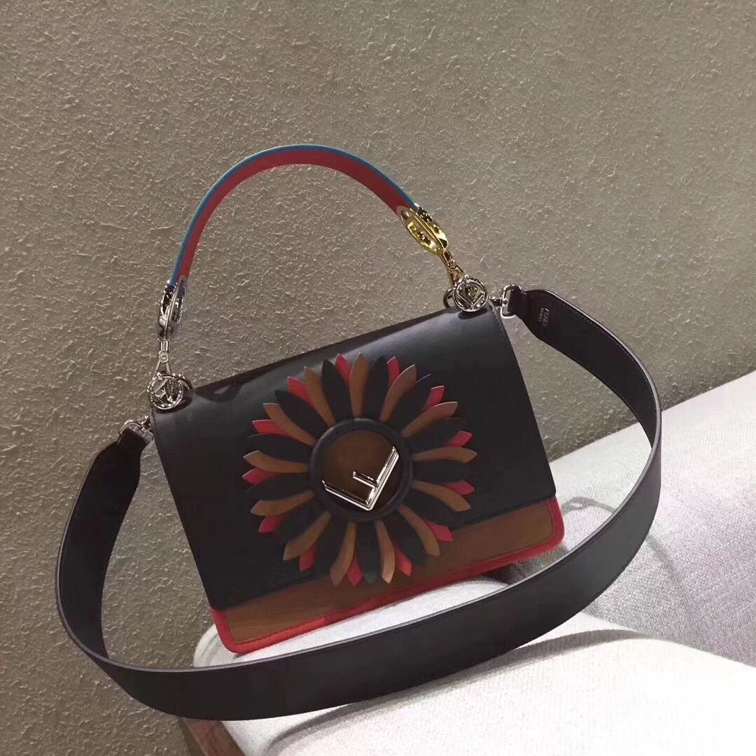 Fendi KAN I F Shoulder Bag Original Leather 77569