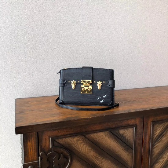 Louis Vuitton Epi Leather TRUNK CLUTCH M51697 black