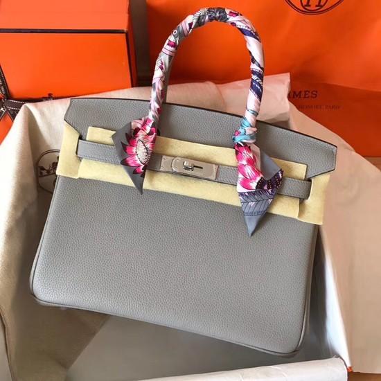 Hermes Birkin Tote Bag Original Togo Leather BK35 grey