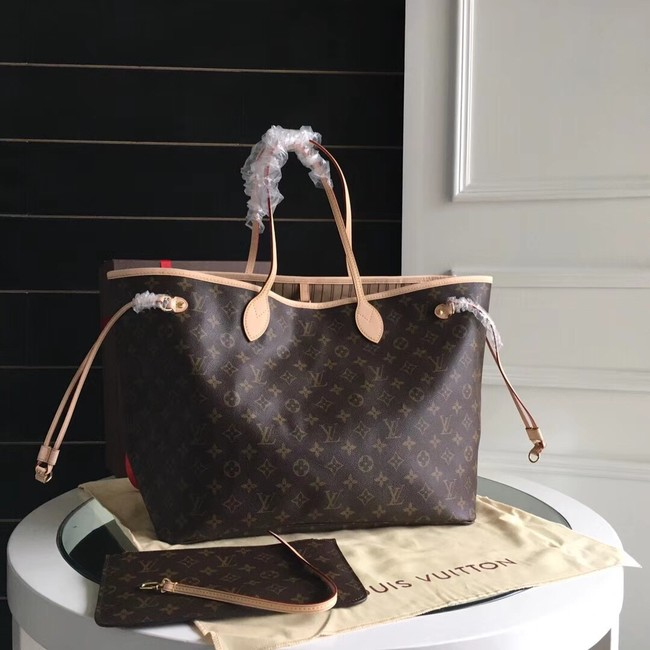 Louis Vuitton Monogram Canvas Original NEVERFULL GM M40990 apricot
