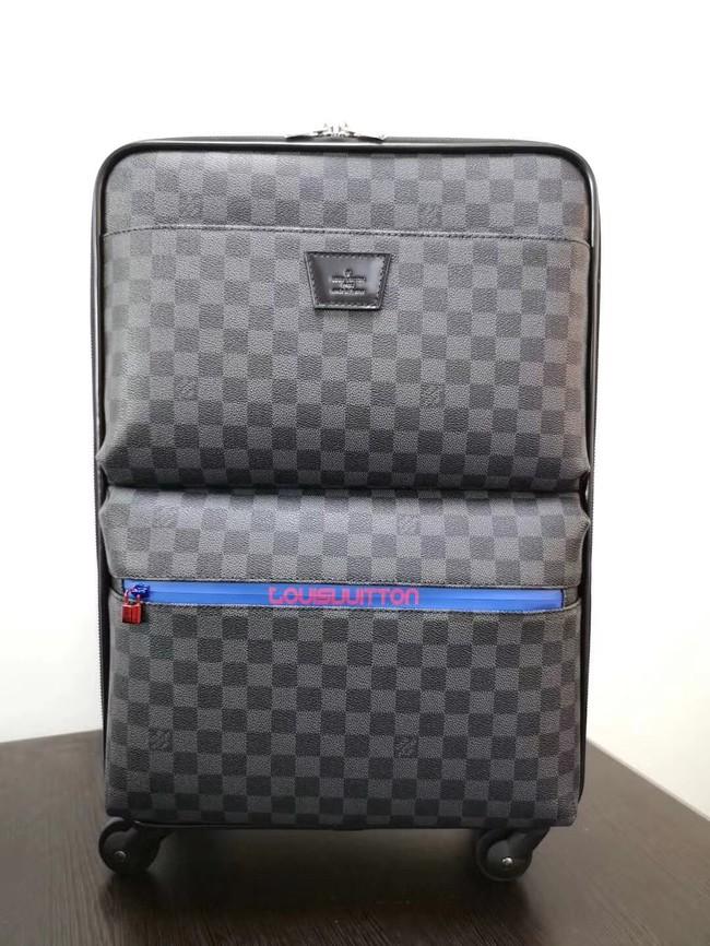 Louis Vuitton Damier Graphite canvas Universal wheel Pegase 55 N41385 black