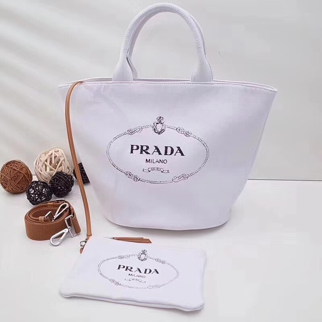 Prada fabric handbag 1BG163 white