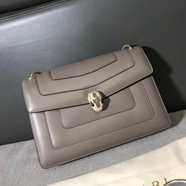 BVLGARI Serpenti leather shoulder bag 14632 grey