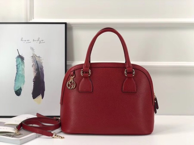 Gucci GG Calf leather top quality tote bag 449662 red