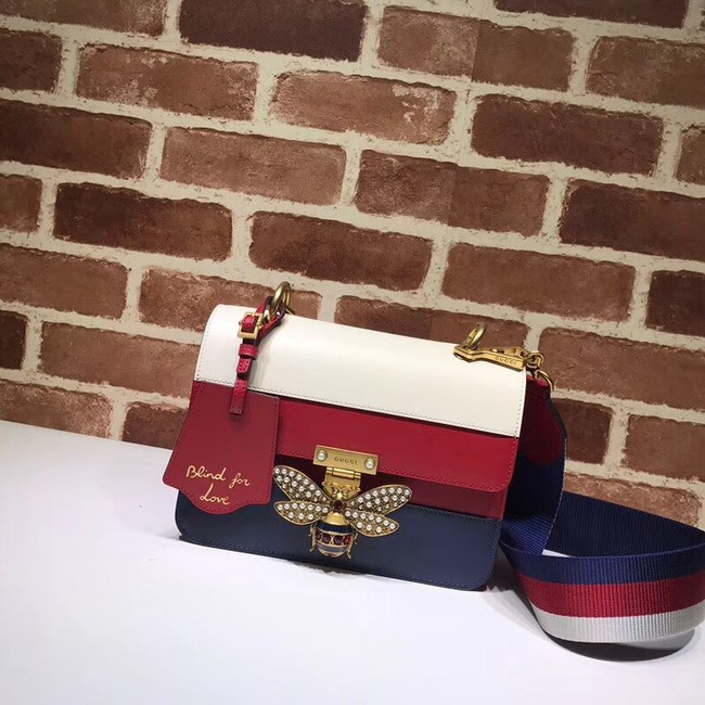 Gucci Queen Margaret small shoulder bag 476542 red&white&blue