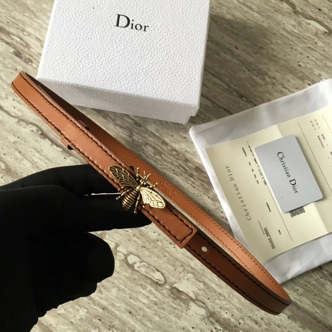 Dior BEE BELT CALFSKIN B0387 brown