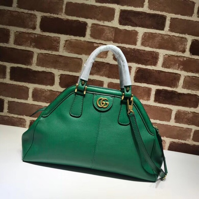 Gucci RE medium top handle bag Style 516459 green