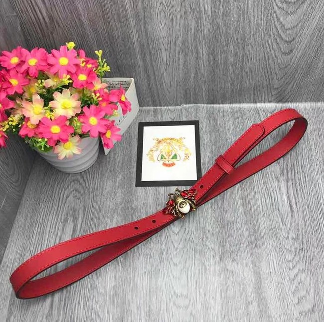 Gucci leather belt 476452 red