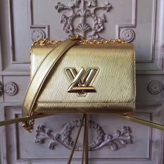 Louis vuitton original epi leather TWIST MM M50332 gold