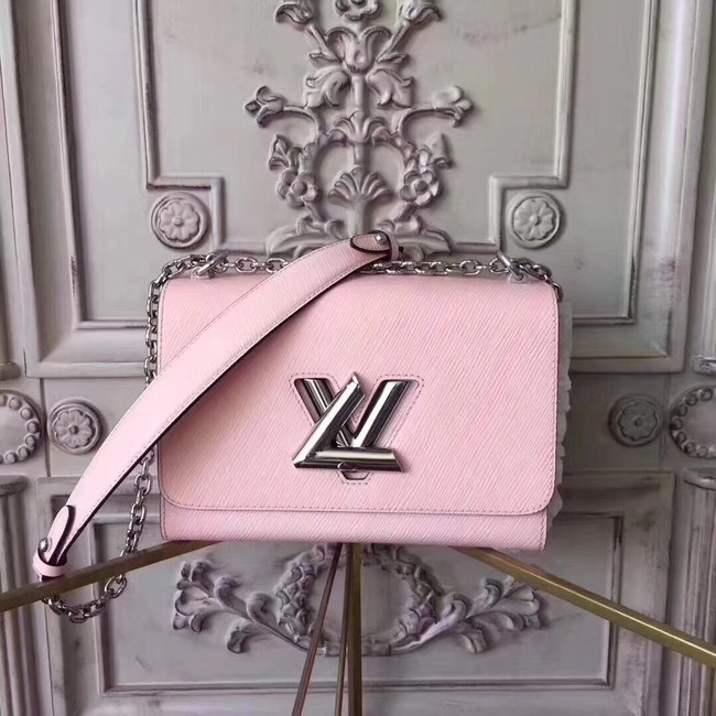 Louis vuitton original epi leather TWIST MM M50332 pink