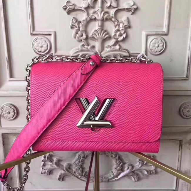 Louis vuitton original epi leather TWIST MM M50332 rose