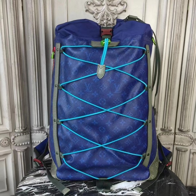 Louis Vuitton Monogram Christopher Backpack OUTDOOR 43834 blue