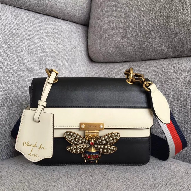 Gucci Queen Margaret small shoulder bag 476542 black&white