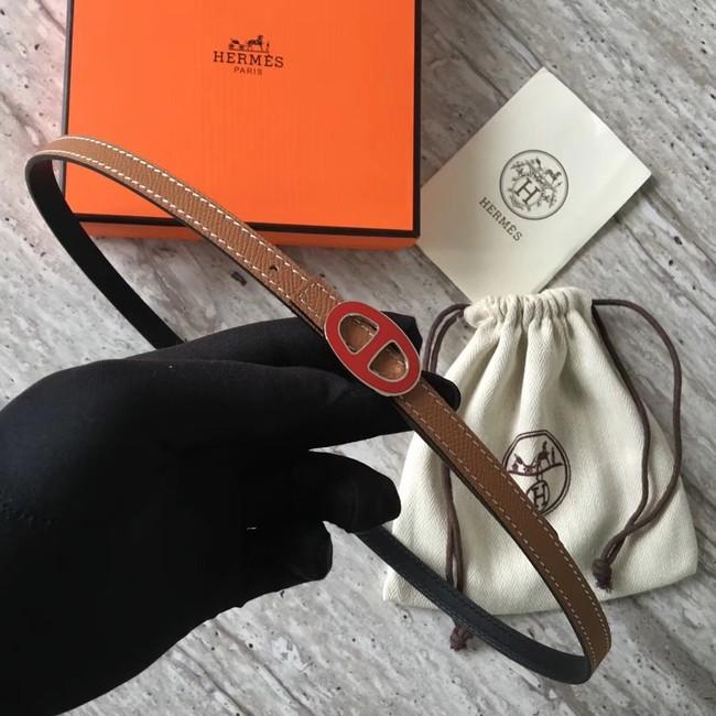Hermes Focus belt buckle & Reversible leather strap 13 mm H20813 brown