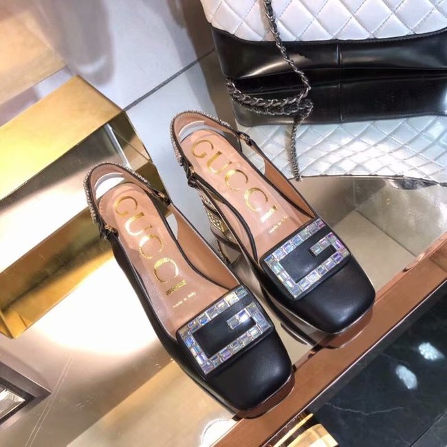 Gucci High-heeled shoes GG1376LD Black Heel high 6CM