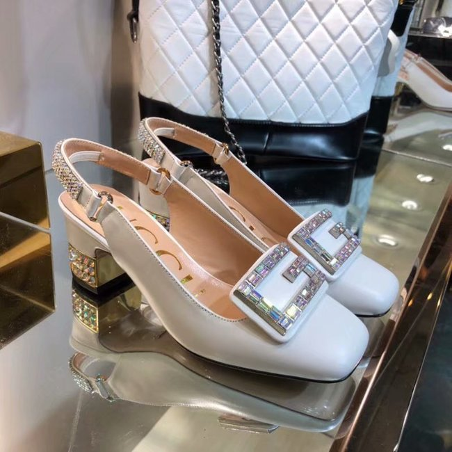 Gucci High-heeled shoes GG1376LD white Heel high 6CM