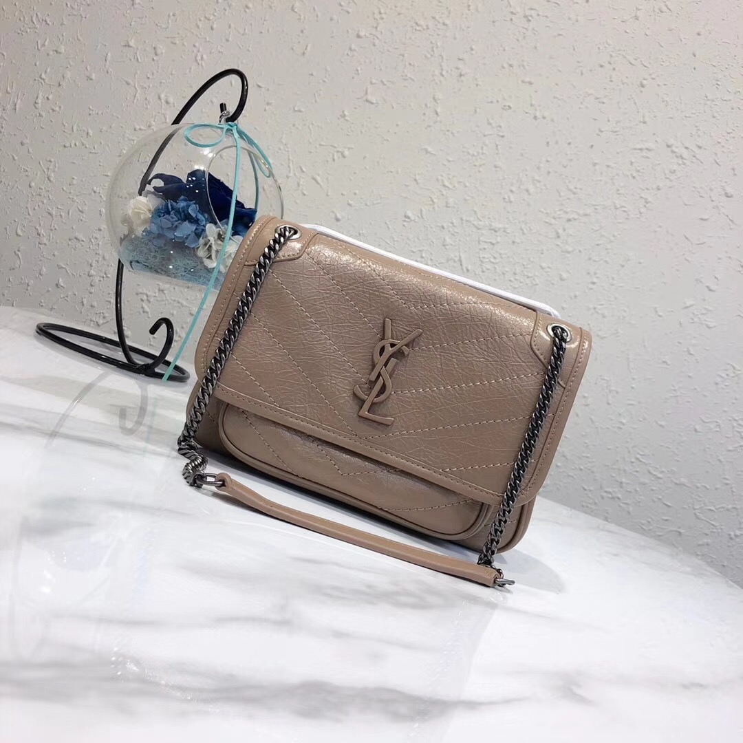 Yves Saint Laurent MINI Niki Chain Bag 498893 apricot