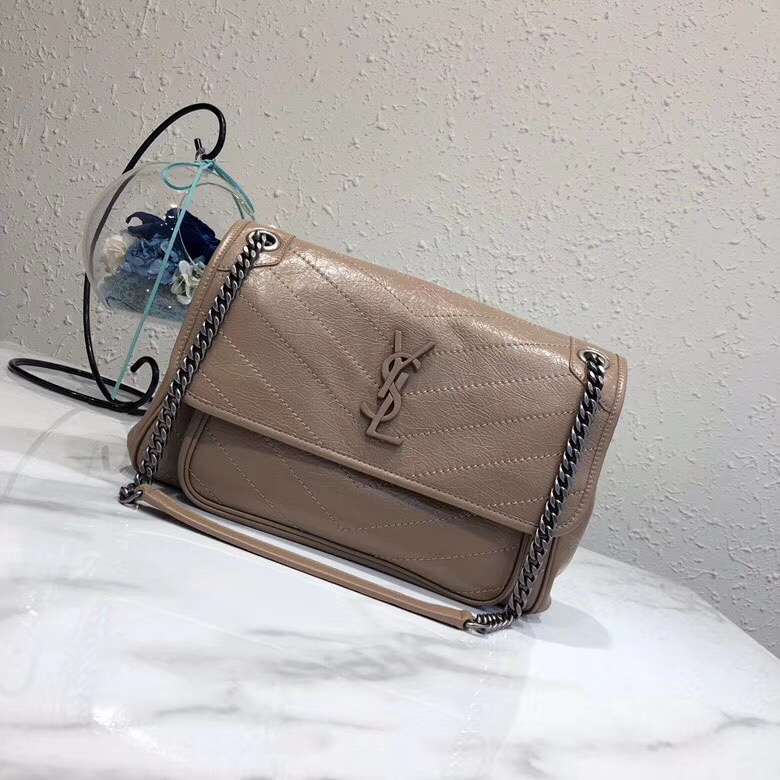 Yves Saint Laurent Medium Niki Chain Bag 498894 apricot