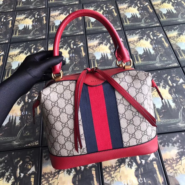 Gucci GG canvas top quality tote bag 523433 red