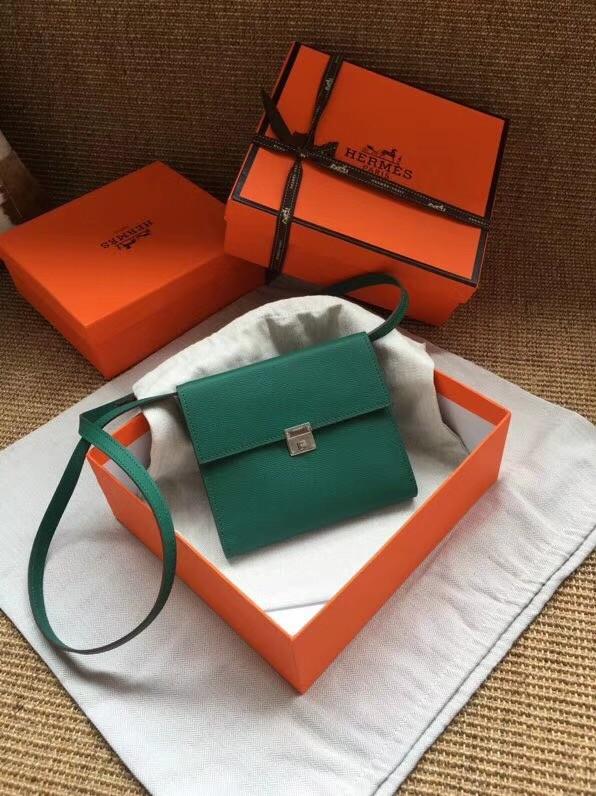 Hermes Clutch Epsom calfskin H0589 green