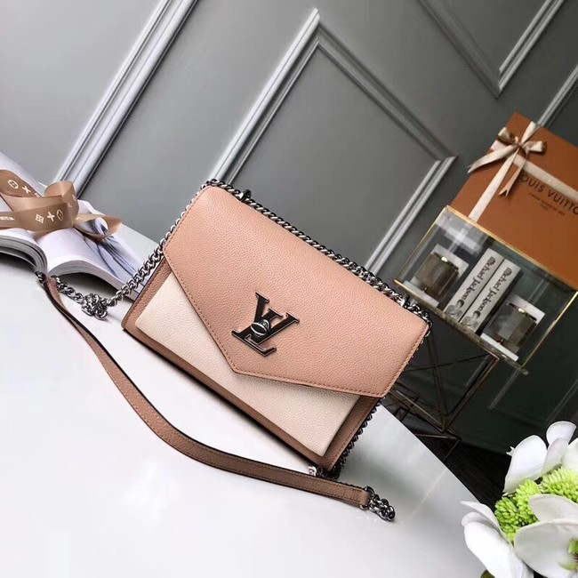 Louis Vuitton MYLOCKME BB M51418 apricot &white