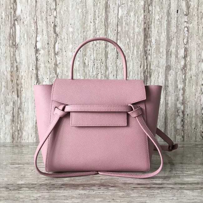 Celine NANO BELT BAG IN GRAINED CALFSKIN 99970 pink