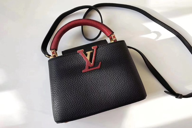 Louis Vuitton CAPUCINES MINI N94047 black&red