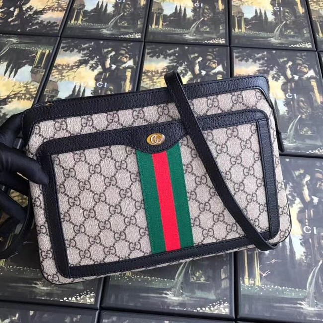 Gucci GG Supreme medium shoulder bag 523354 black