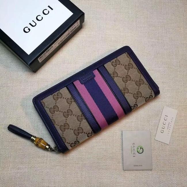 Gucci GG canvas zipper wallet 353651 purple