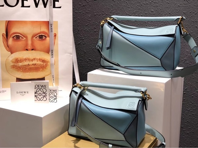 Loewe Puzzle Bag Original Leather B9124 blue