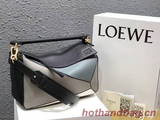 Loewe Puzzle Bag Original Leather B9124 blue white black