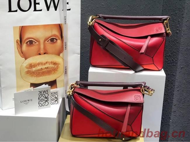 Loewe Puzzle Bag Original Leather B9124 red
