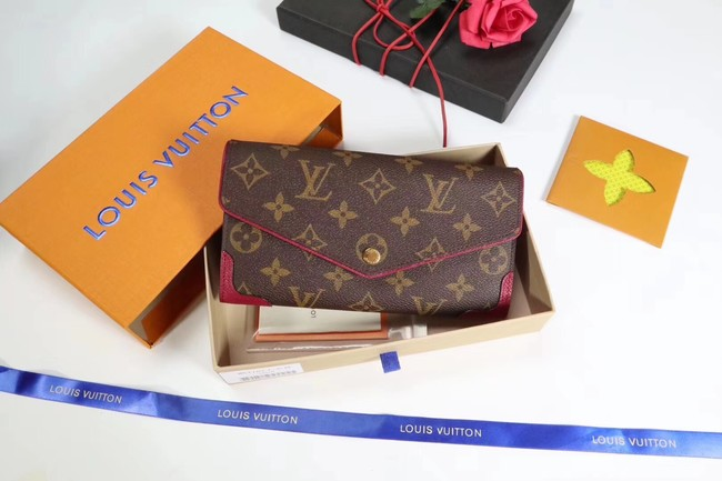 Louis Vuitton CAISSA WALLET N61184 fuchsia
